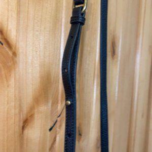UGG Black Sheepskin Leather Trim CrossBody Bag